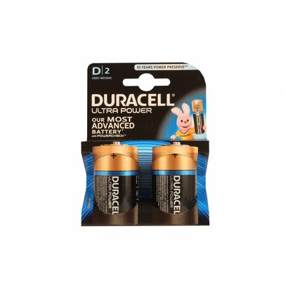Type D cell batterijen Duracell ultra blister 2 stuks