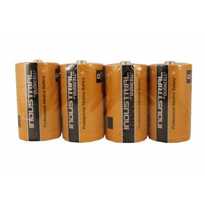 Type D cell batterijen Duracell industrial folie 4 stuks