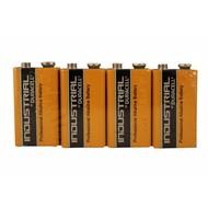 9V blok batterij Duracell industrial folie 4 stuks