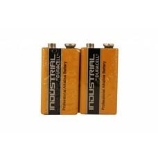 9V blok batterij Duracell industrial folie 2 stuks