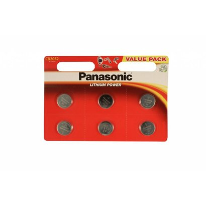 CR2032 batterij 3V Panasonic lithium knoopcel (3 Volt) 6 stuks
