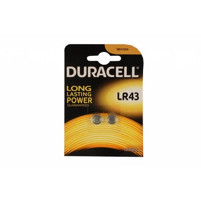 LR43 / AG12 1,5V Duracell knoopcel batterij