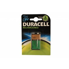 9V blok oplaadbare batterij Duracell