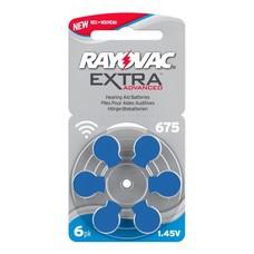 Rayovac extra advanced hoortoestel batterijen type 675 | blauw | PR44