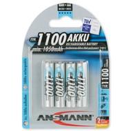 AAA oplaadbare batterijen Ansmann 1100 mAh NiMH 1,2V