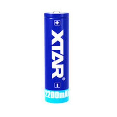 X-tar 18650 Li-ion oplaadbare batterij 3,7V 2200 mAh protected