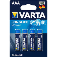 AAA batterijen Varta longlife power blister 4 stuks