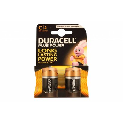 Type C cell batterijen Duracell plus blister 2 stuks
