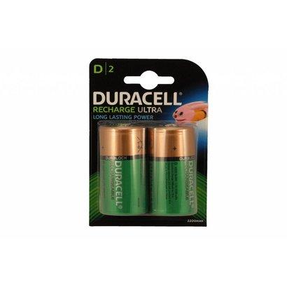 D cell oplaadbare batterijen Duracell 1,2V blister 2 stuks