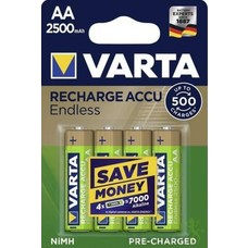 AA oplaadbare batterijen Varta Endless 2500 mAh (Ready2use)