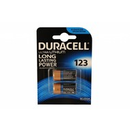 CR123A Duracell ultra lithium batterij blister 2 stuks