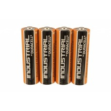 AA LR6 LR06 batterijen Duracell industrial folie 4 stuks