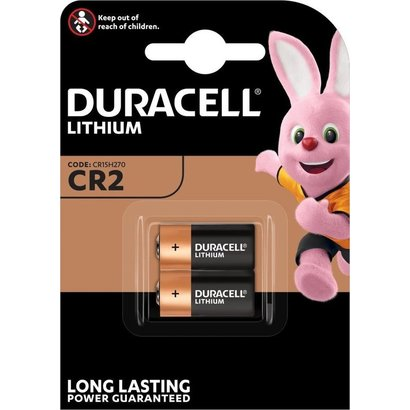 CR2 Duracell 3V lithium batterij blister 2 stuks