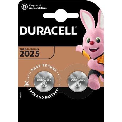 CR2025 3V Duracell lithium knoopcel batterij 2 stuks