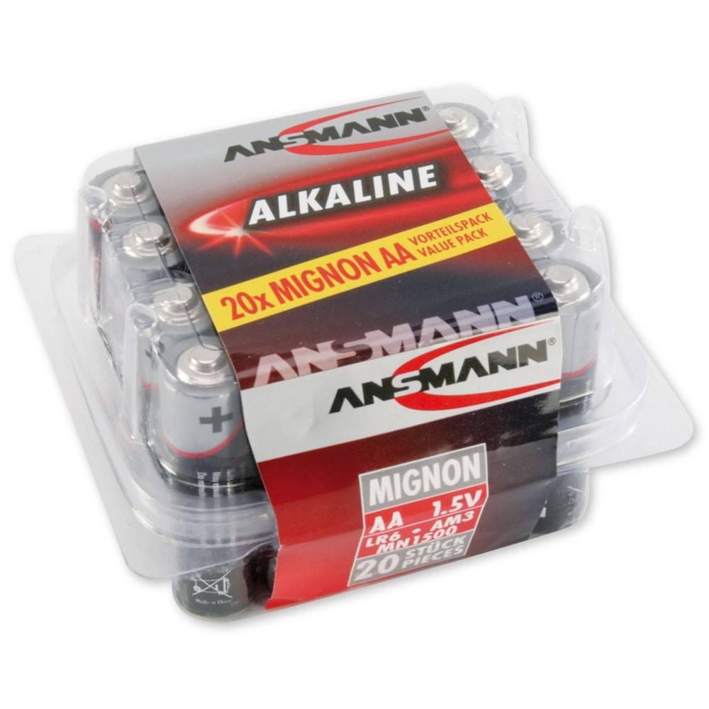 Ansmann AA en AAA alkaline boxen extra voordelig