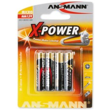 AAA batterijen Ansmann X-power blister 4 stuks