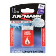 9V lithium blok rookmelder batterij Ansmann