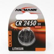 CR2450 3V Ansmann lithium knoopcel batterij (3 Volt)