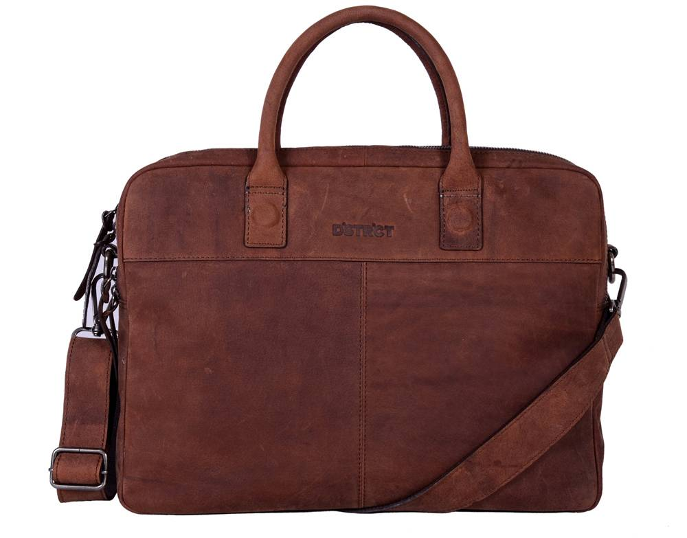 DSTRCT Wall Street Echo Laptoptas 15,6 inch Brown