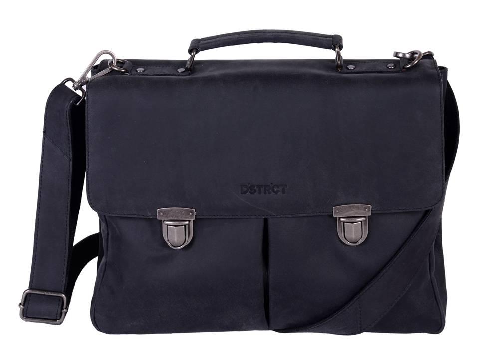 DSTRCT Charlie Wall Street A4 Laptoptas 15,4 inch Black
