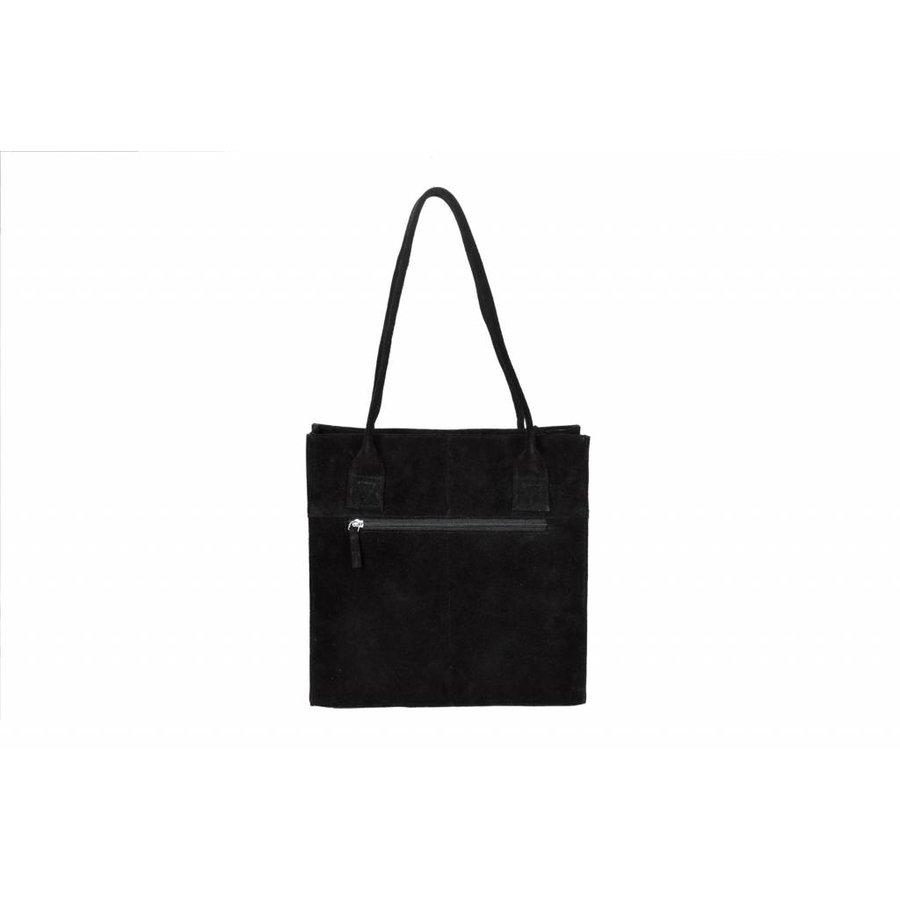 DSTRCT Portland Road Leren Dames Small Shopper Black
