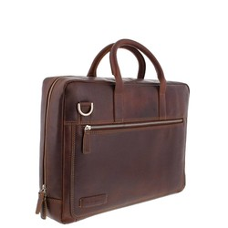 Plevier Vintage Business Laptoptas 15,6 inch Bruin