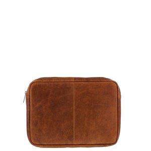 """Plevier Plevier Laptophoes 12 inch  laptop of 11""""- 12"""" MacBook cognac"""