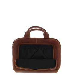 Plevier Laptophoes 14 inch laptop of 13 inch MacBook Cognac