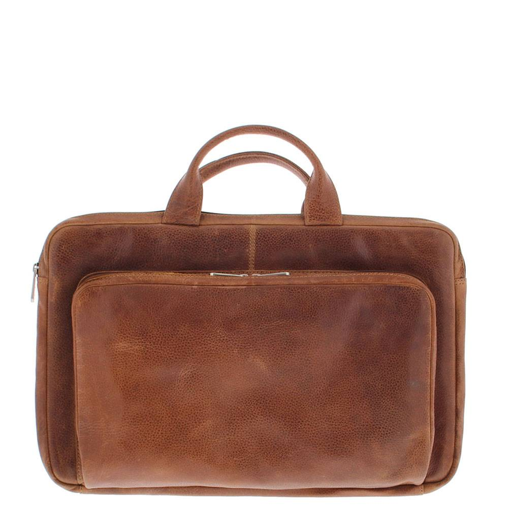 Plevier Leren Laptop sleeve 17,3 laptop Cognac