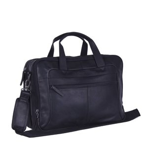 566a4590610 Chesterfield Chesterfield Bags Leren Laptoptas 17 inch Ryan Zwart