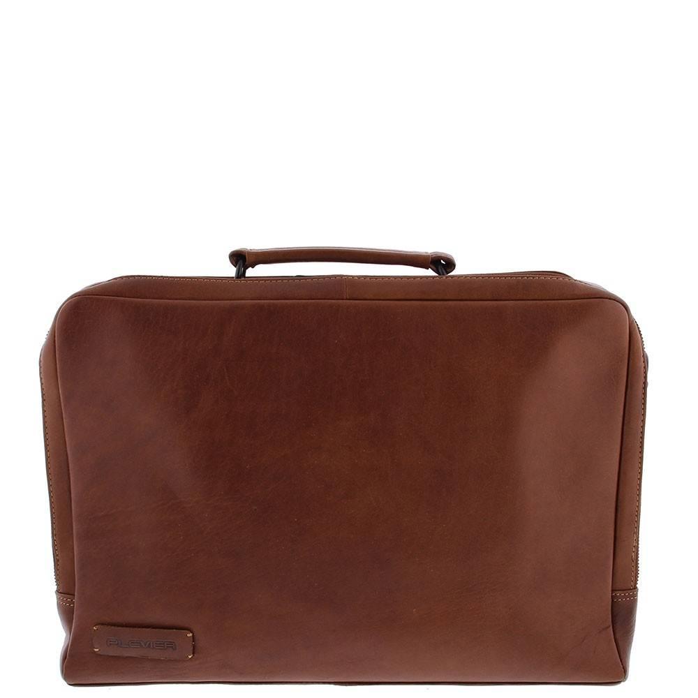 c2fe25c463d Plevier Leren 2-vaks Laptoptas 15,6 inch Bruin damestassen - Tassen ...