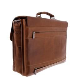 Plevier Decca Leren 2-vak Laptoptas 17,3 inch Bruin