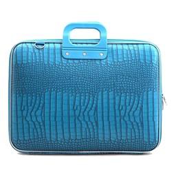 Bombata Croco Hardcase Laptoptas 17 inch Turquoise