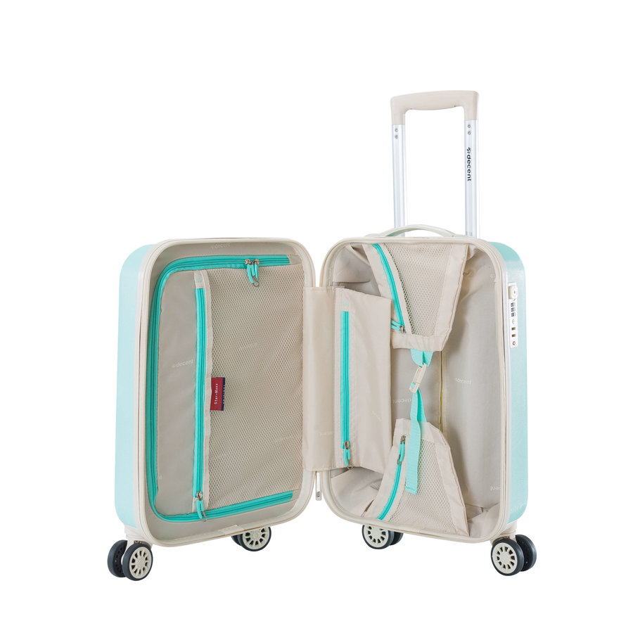 Decent Star Maxx Handbagage Trolley Koffer 55 Pastel Groen