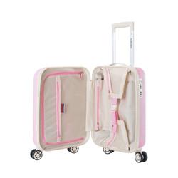 Decent Star Maxx Handbagage Trolley Koffer 55 Pastel Roze