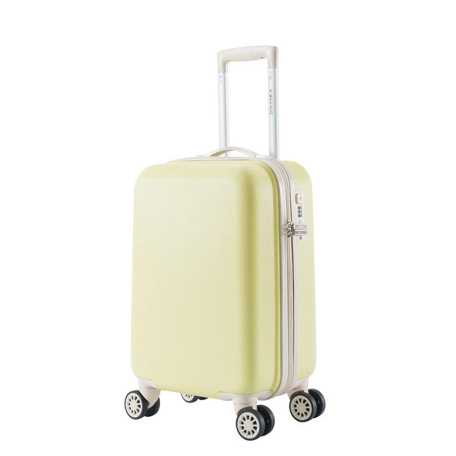 Decent Star Maxx Handbagage Trolley Koffer 55 Pastel Geel