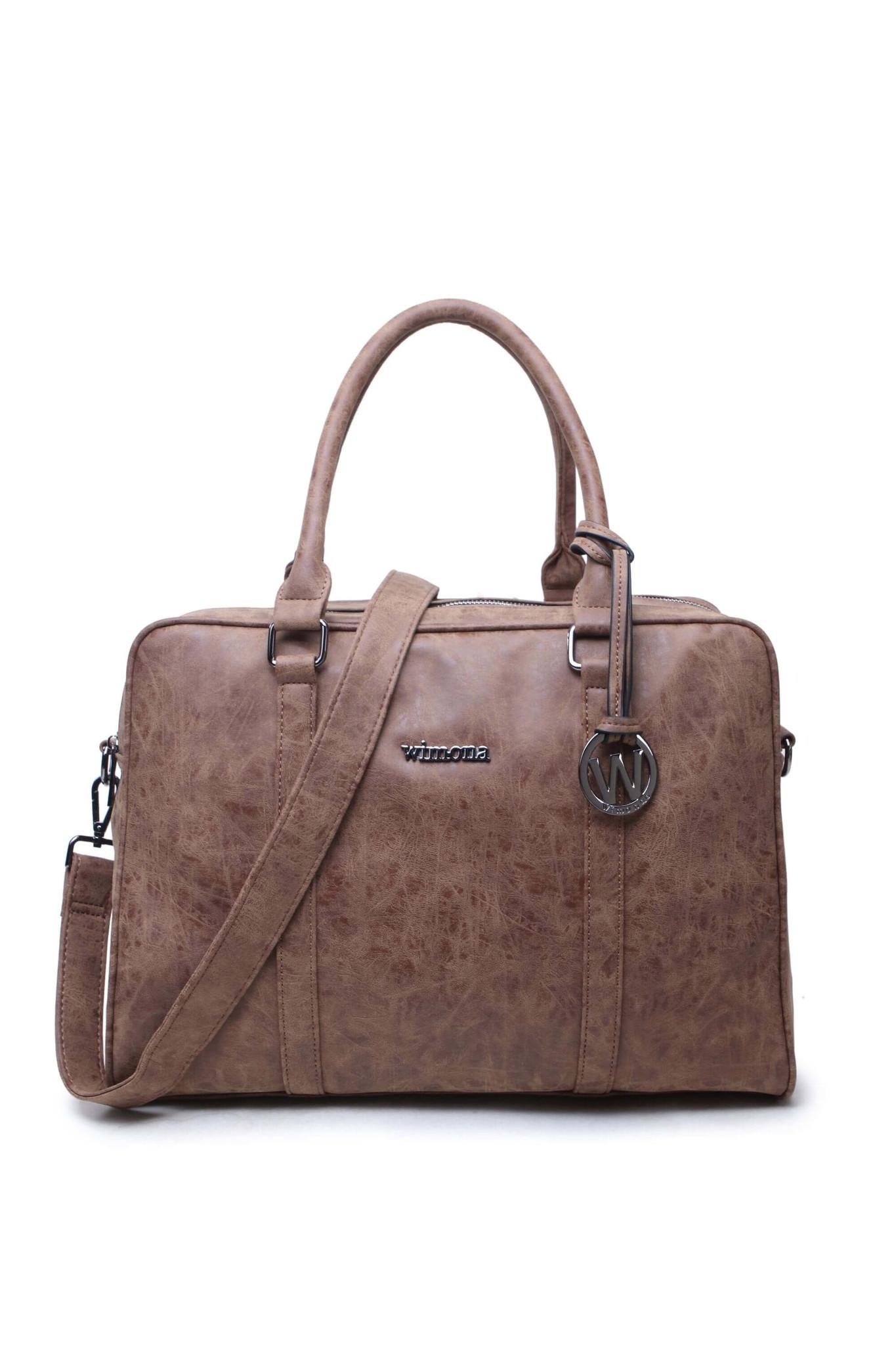Wimona Luciana Dames laptoptas 15,6 inch Cognac