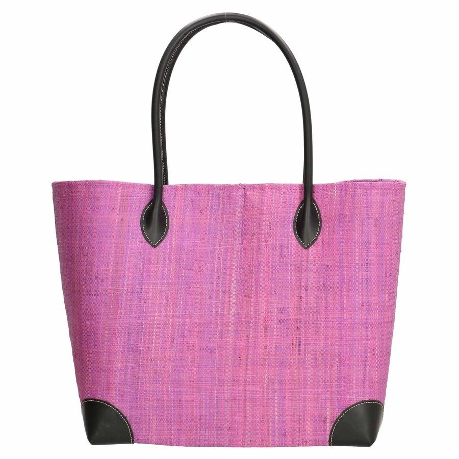 PE Florence Solid Solid Hangara Raffia Basket Lilac