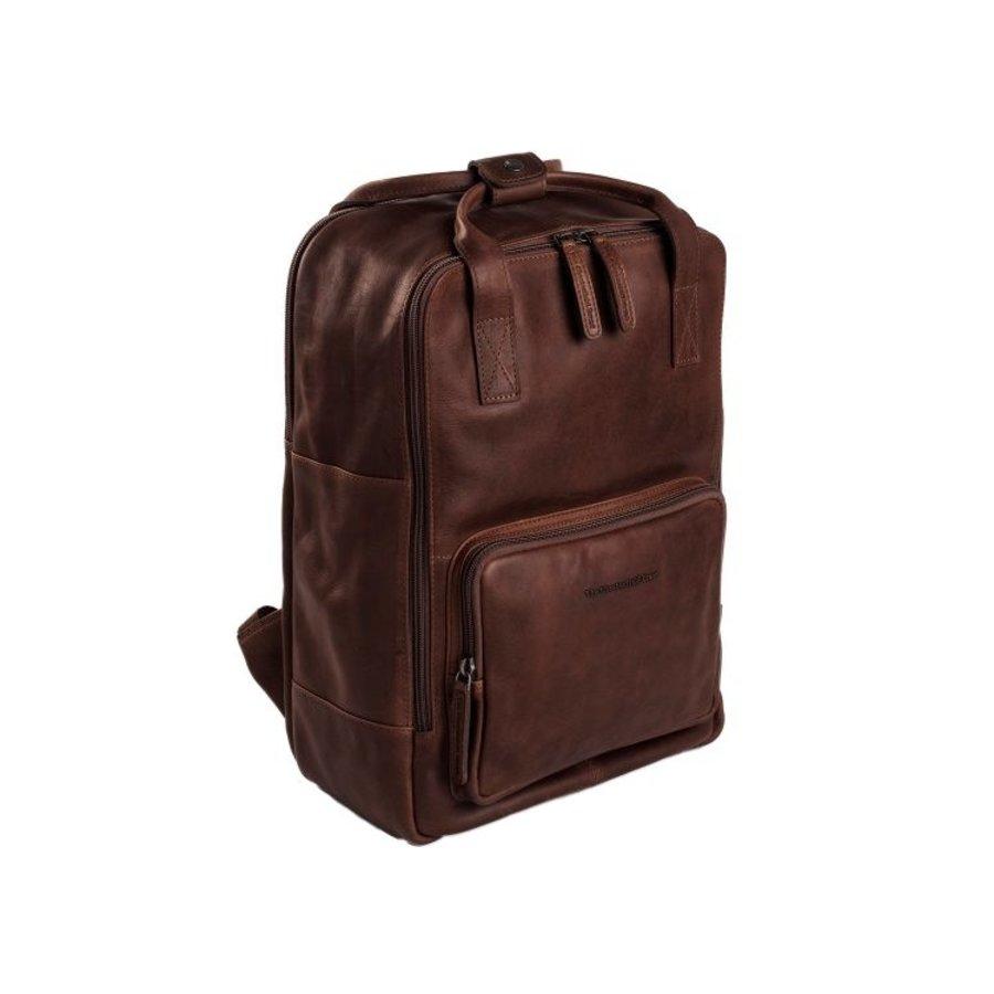 Chesterfield Bags Leren Laptop Rugzak Belford Bruin