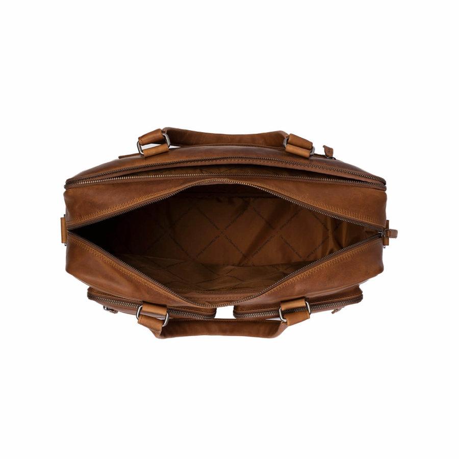 Chesterfield Leren Laptoptas 17 inch Mischa Cognac