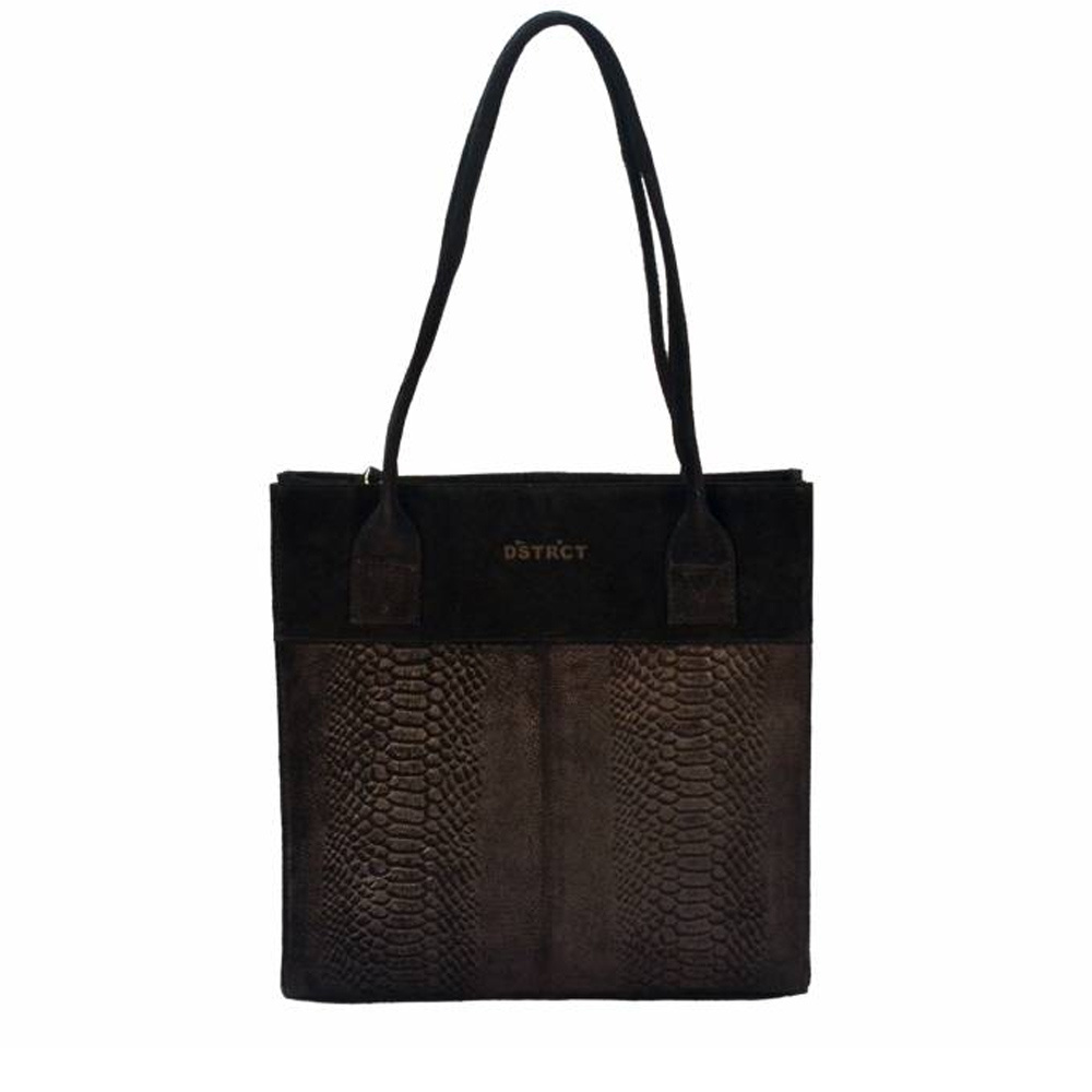 DSTRCT Portland Road Leren Dames Small Shopper Black