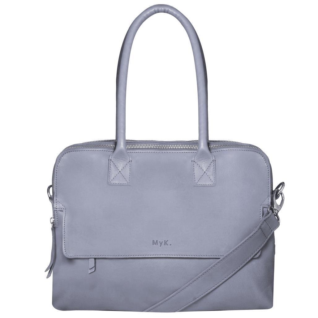 MyK. Bag Focus 13 inch laptoptas Silver Grey
