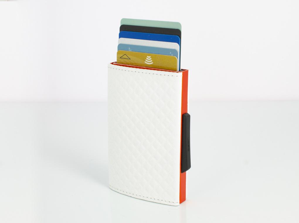 Ogon Cascade Wallet White (orange)