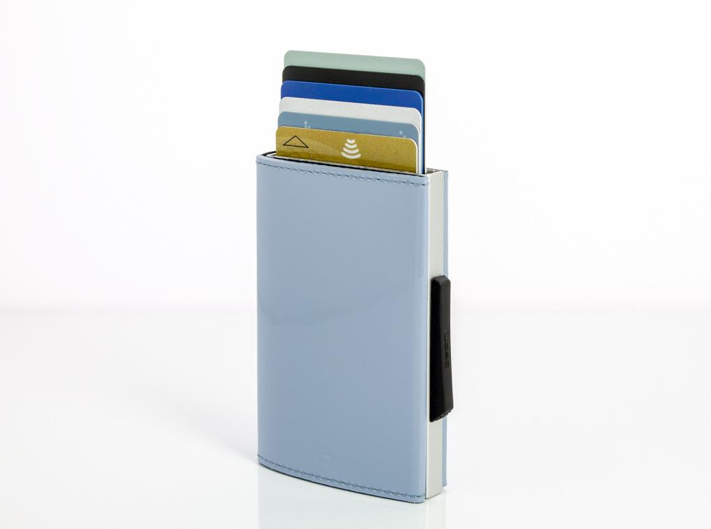 Ogon Cascade Wallet Leather Sky Blue