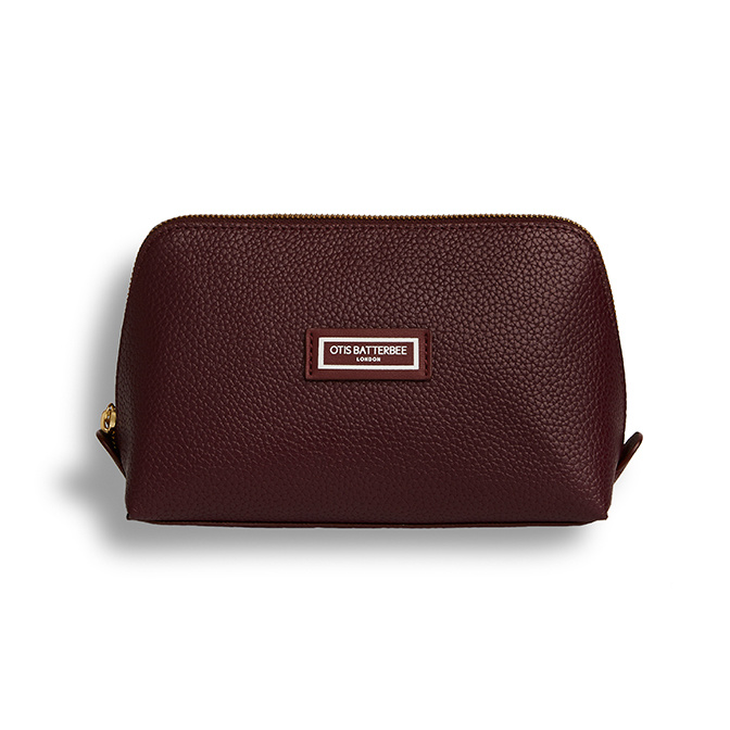 Otis Batterbee The Beauty Makeup Bag L Burgundy