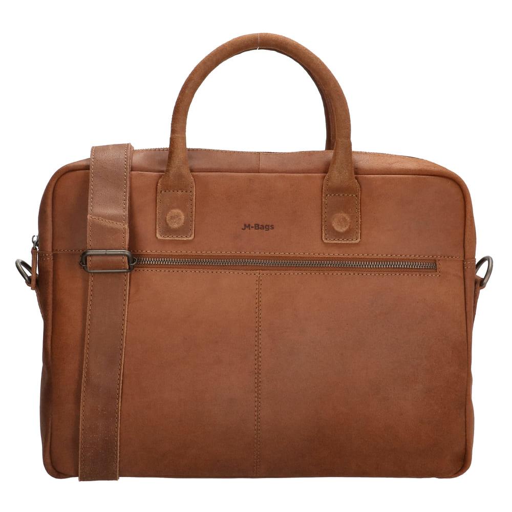 JM Bags Laptoptas 15,6 inch Oslo Cognac