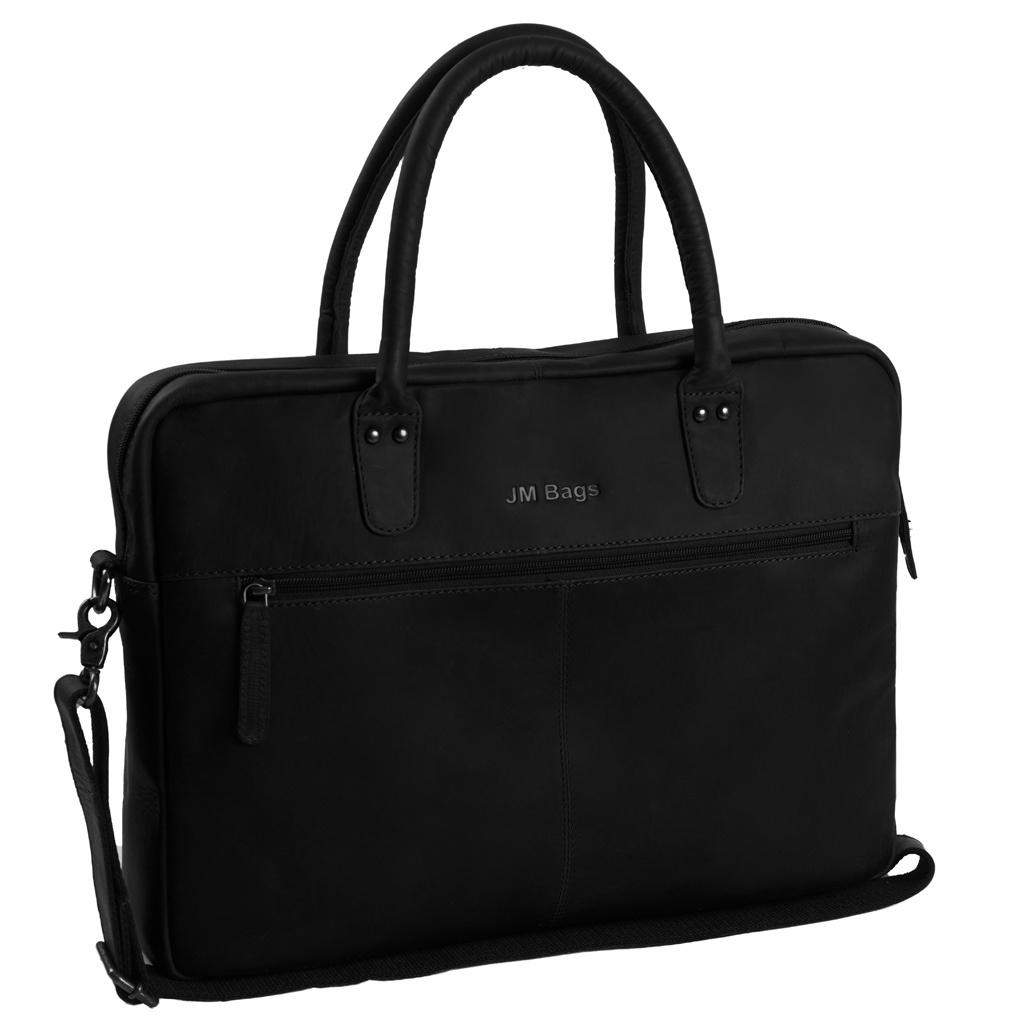 JM Bags Laptoptas 15,6 inch Tallinn Zwart