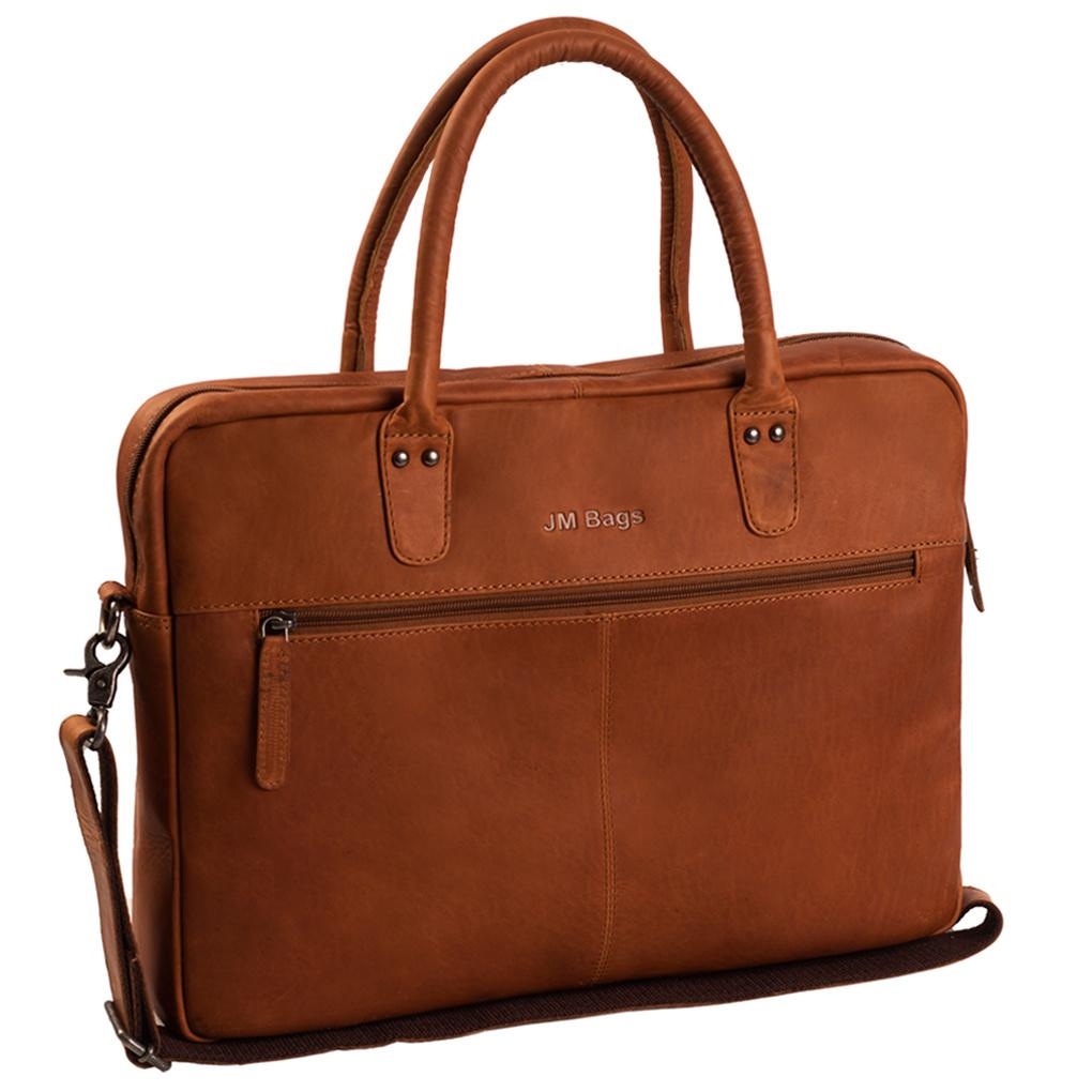 JM Bags Laptoptas 15,6 inch Tallinn Cognac