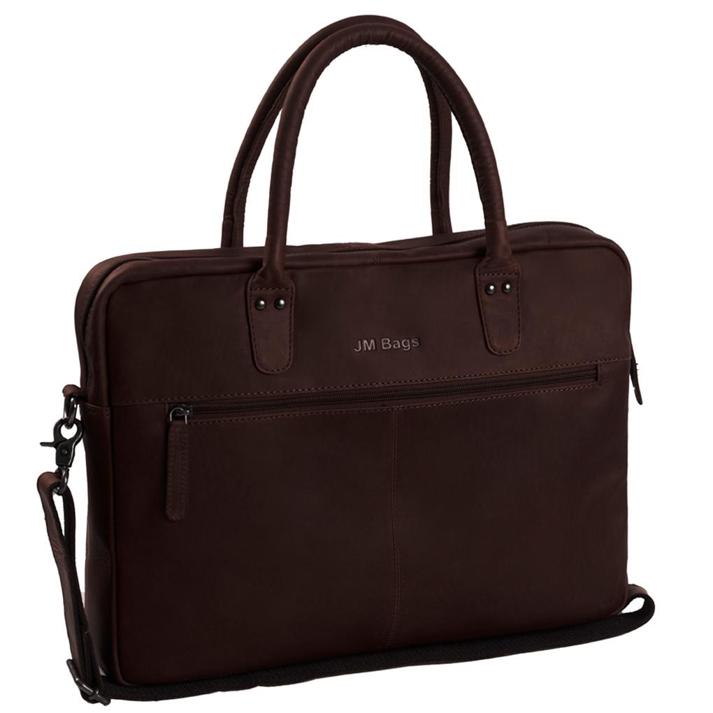 JM Bags Laptoptas 15,6 inch Tallinn Bruin
