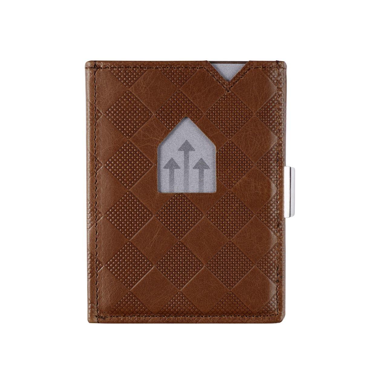 Exentri Leather Wallet Hazelnut Chess